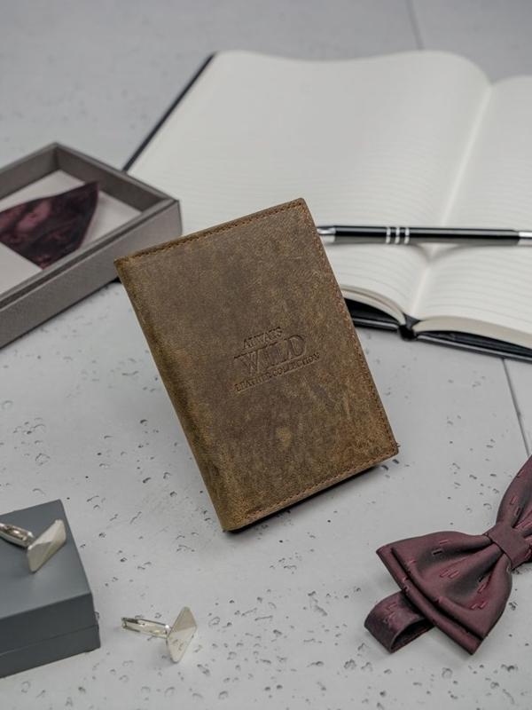 Portfel męski skórzany brązowy 3132