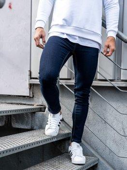 Spodnie jeansowe męskie atramentowe Denley 61828