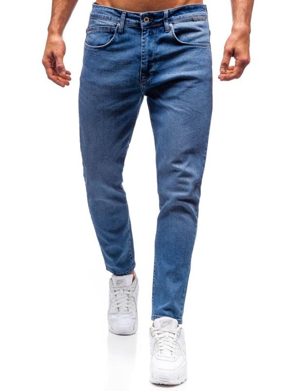 Spodnie jeansowe męskie niebieskie Denley 7157