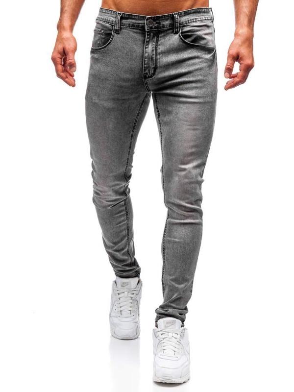 Spodnie jeansowe męskie szare Denley 71831