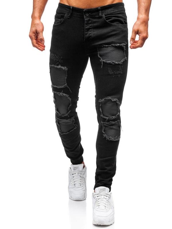 Spodnie męskie joggery czarne Denley 820