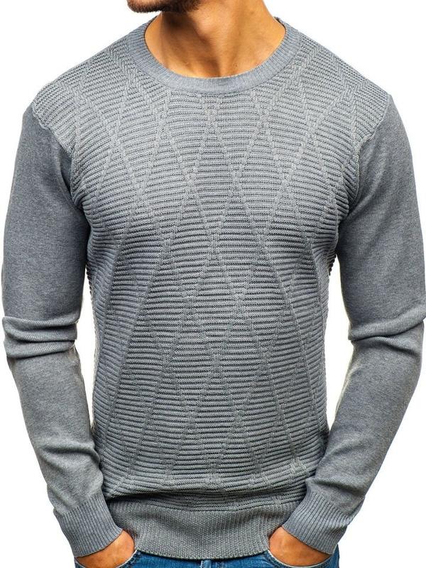 Sweter męski szary Denley H1825