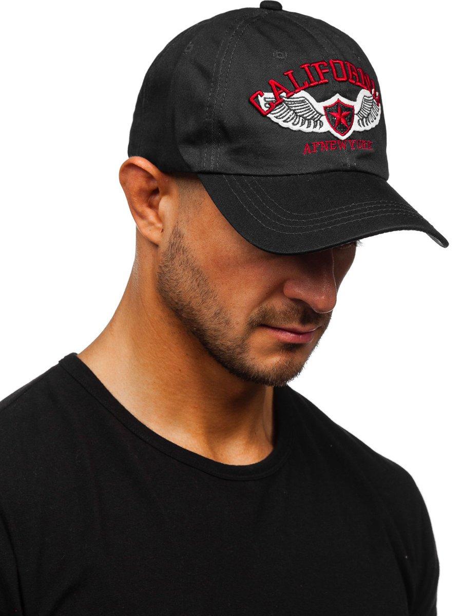 Czarna-czapka-z-daszkiem-Denley
