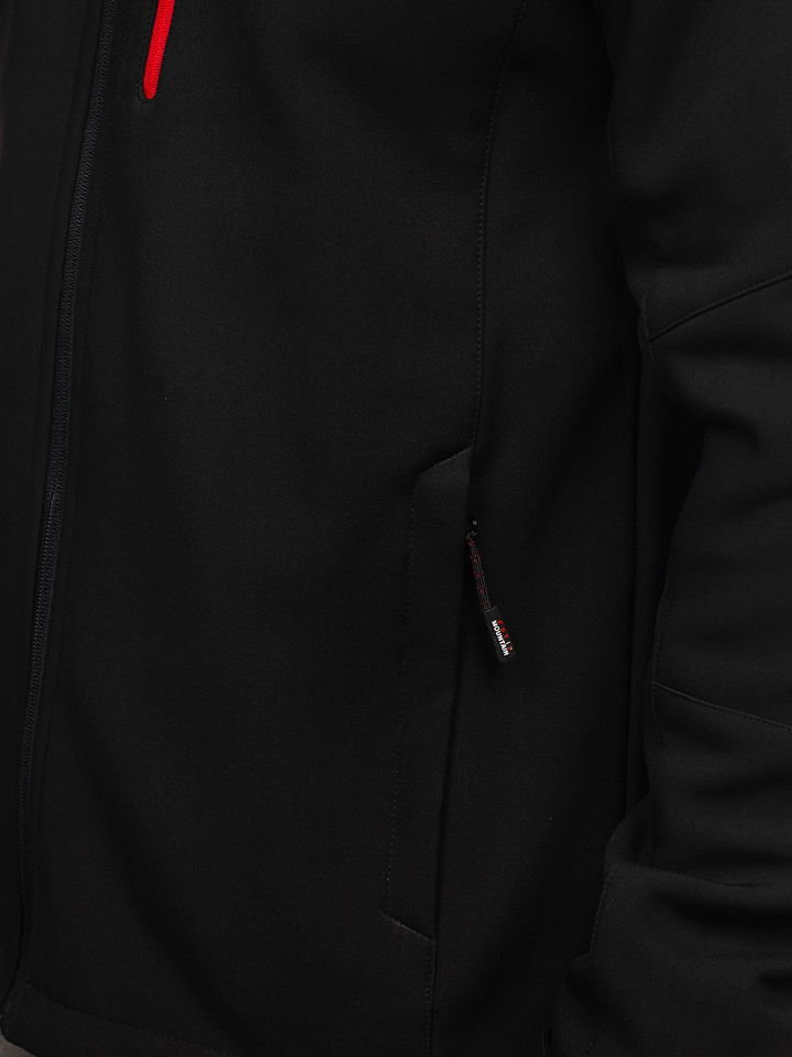 Kurtka męska softshell czarno czerwona Denley 107A