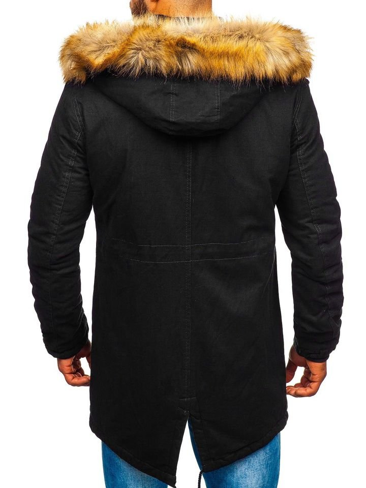 Kurtka męska zimowa parka czarna Denley JK391