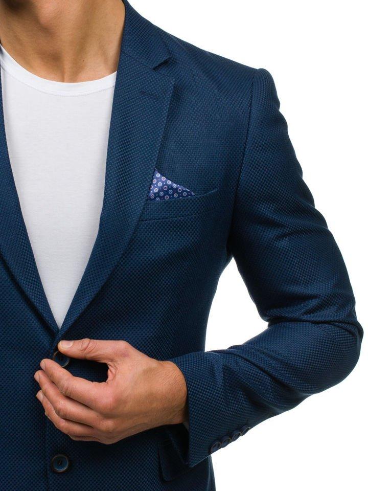 3be977b543e4e Marynarka męska elegancka niebieska Denley 2222