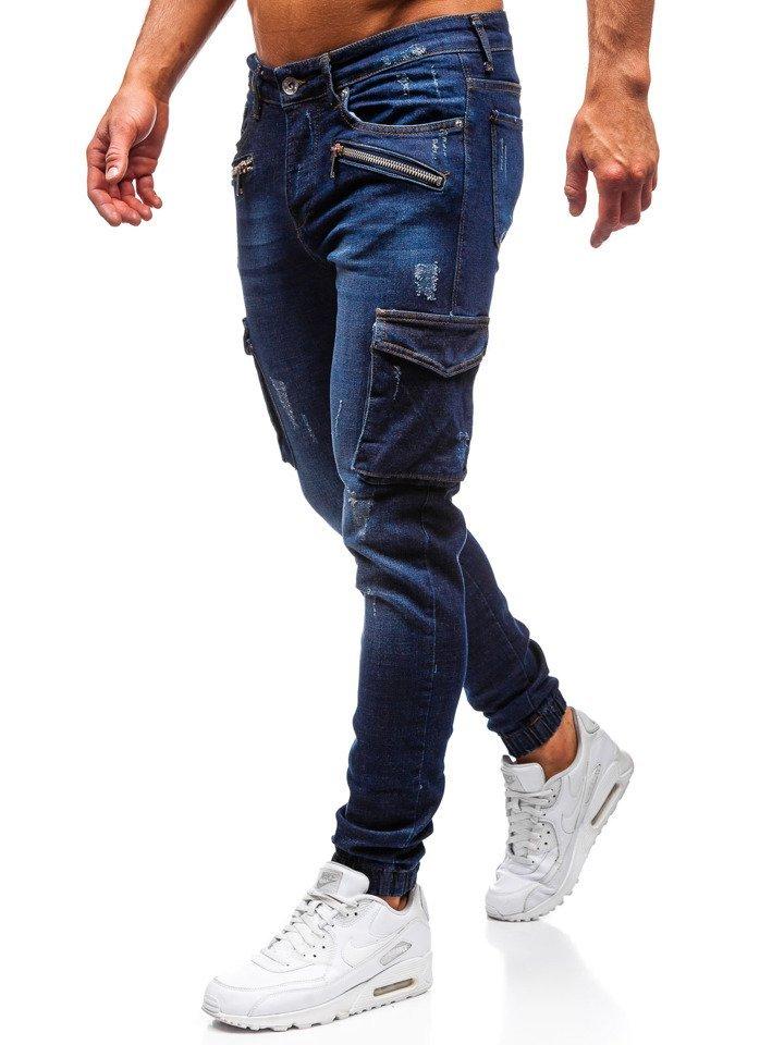 Spodnie męskie dresowe joggery moro zielone Denley HL8516
