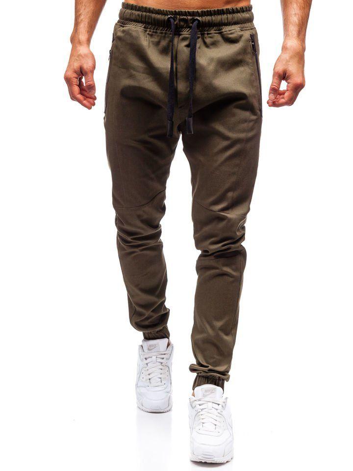 Spodnie joggery męskie khaki Bolf 0803