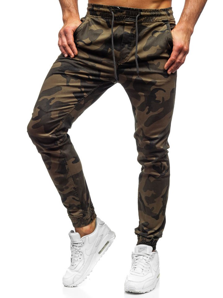 Spodnie joggery męskie moro khaki Denley KA351
