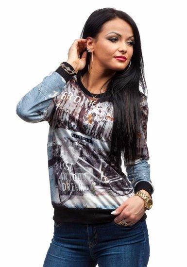 Bluza damska czarna Denley 3707
