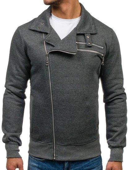 Bluza męska bez kaptura antracytowa Denley 002