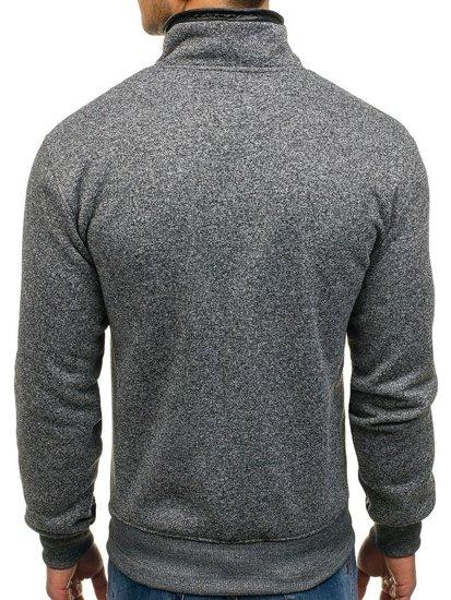 Bluza męska bez kaptura antracytowa Denley 1801