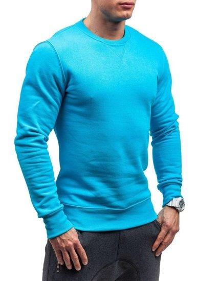Bluza męska bez kaptura błękitna Bolf 44S
