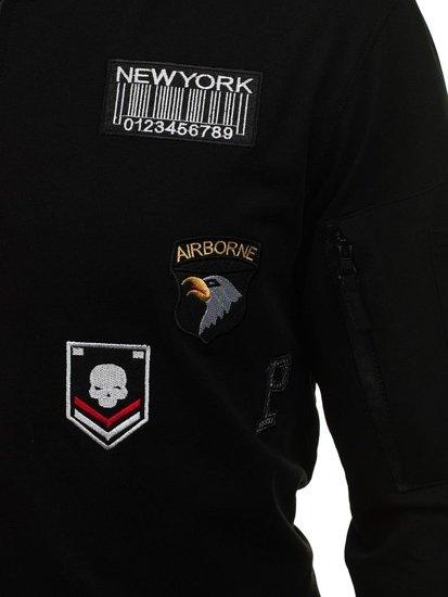 Bluza męska bez kaptura czarna Denley 0736