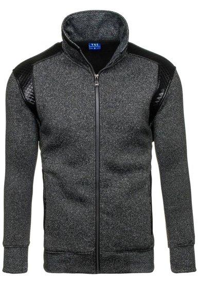 Bluza męska bez kaptura czarna Denley 1801