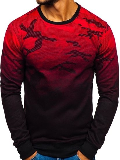 Bluza męska bez kaptura czerwona Denley DD130-2