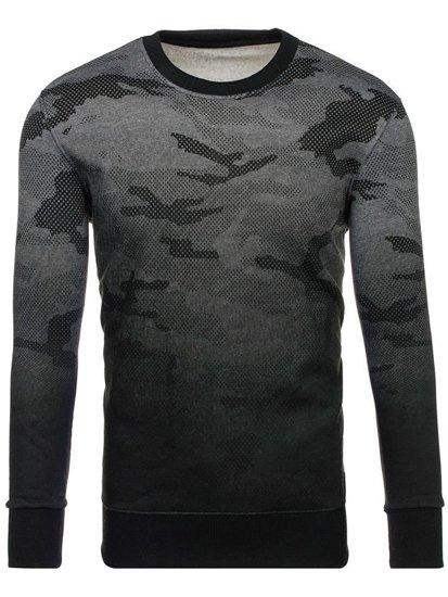 Bluza męska bez kaptura grafitowa Denley DD130-2
