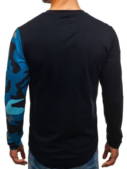 Bluza męska bez kaptura granatowa Denley 0744
