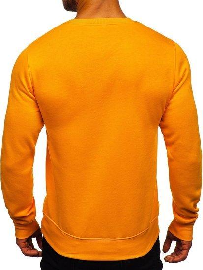 Bluza męska bez kaptura jasnopomarańczowa Denley 2001