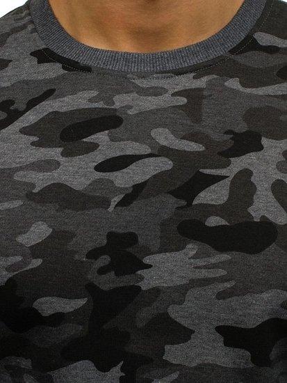 Bluza męska bez kaptura moro-grafitowa Denley DD129-2