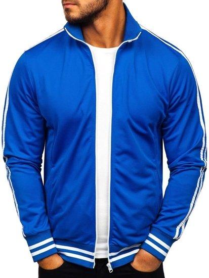 Bluza męska bez kaptura rozpinana niebieska Bolf 11112