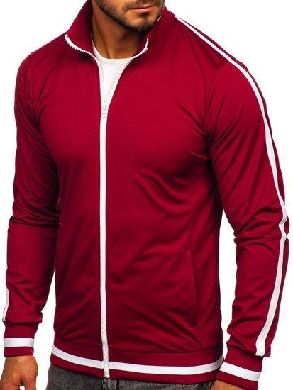 Bluza męska bez kaptura rozpinana retro style bordowa Bolf 2126