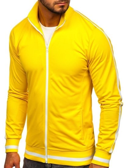 Bluza męska bez kaptura rozpinana retro style żółta Bolf 2126