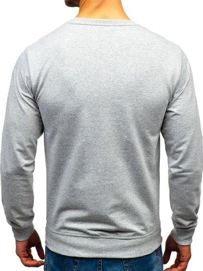 Bluza męska bez kaptura szara Denley 1221