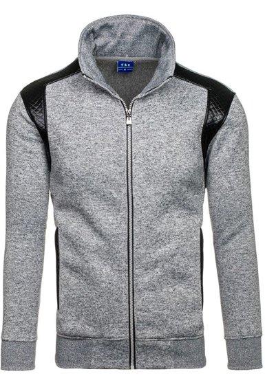 Bluza męska bez kaptura szara Denley 1801