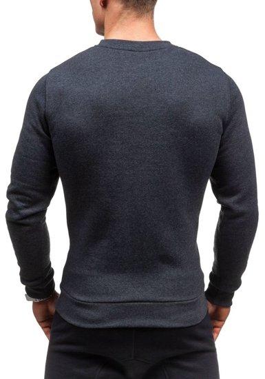 Bluza męska bez kaptura z nadrukiem antracytowa Bolf 56S