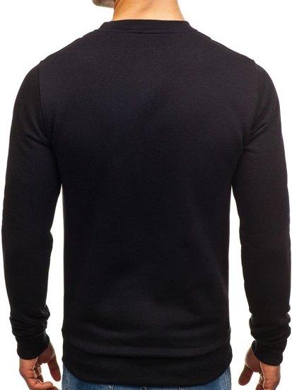 Bluza męska bez kaptura z nadrukiem czarna Bolf 65S