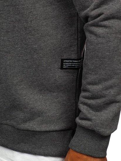 Bluza męska bez kaptura z nadrukiem grafitowa Bolf 11114