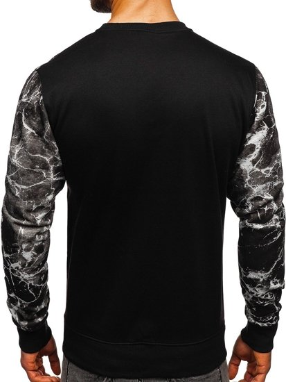 Bluza męska bez kaptura z nadrukiem szara Denley DD653