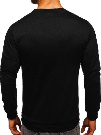 Bluza męska bez kaptura z nadrukiem szara Denley HY692