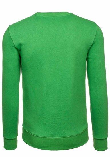 Bluza męska bez kaptura zielona Bolf 44S