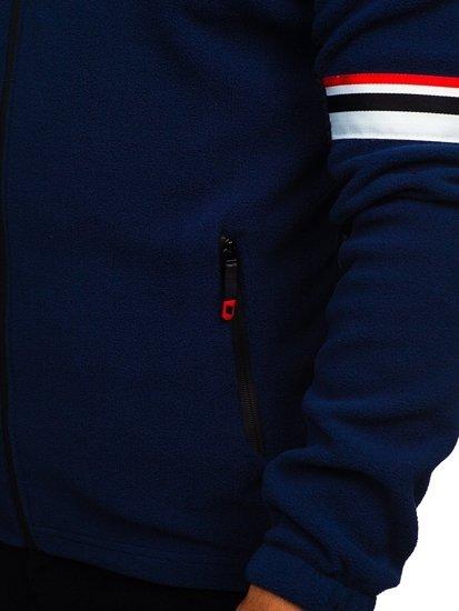 Bluza męska polar z kapturem granatowa Denley YL001