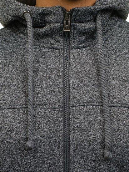 Bluza męska z kapturem antracytowa Denley TC13