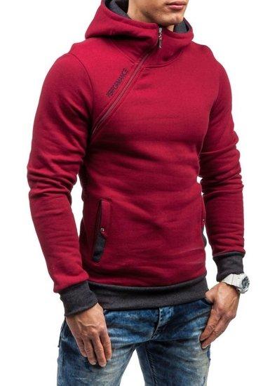 Bluza męska z kapturem bordowa Denley BEN