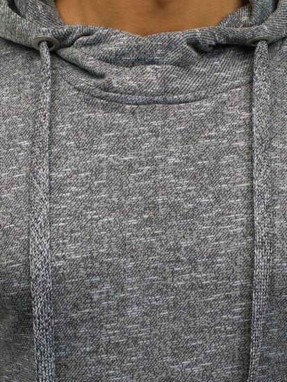 Bluza męska z kapturem ciemnoszara Denley 7033