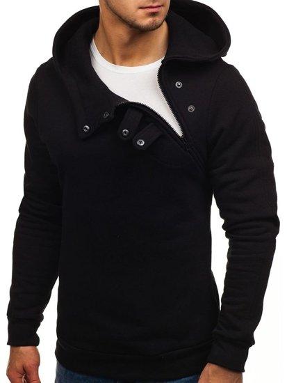 Bluza męska z kapturem czarna Bolf 06S