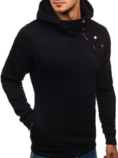 Bluza męska z kapturem czarna Bolf 06S-ZM