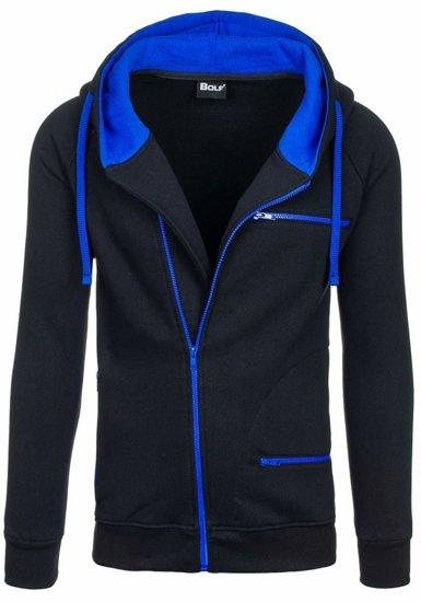 Bluza męska z kapturem czarna Bolf 31S