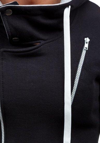 Bluza męska z kapturem czarna Bolf 48S