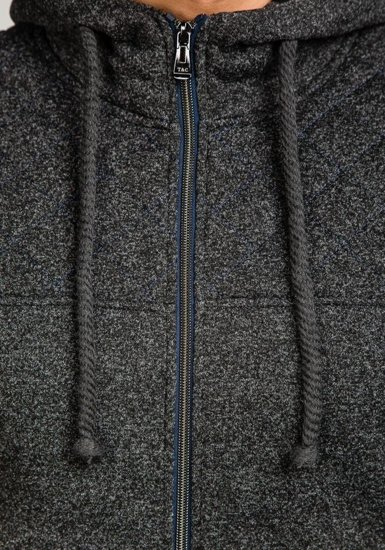 Bluza męska z kapturem czarna Denley 1737