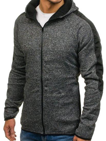 Bluza męska z kapturem czarna Denley 2917