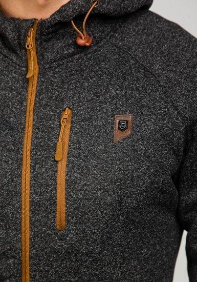 Bluza męska z kapturem czarna Denley 3556