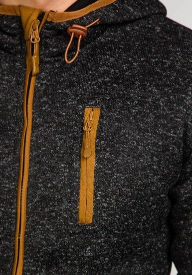 Bluza męska z kapturem czarna Denley 3562A