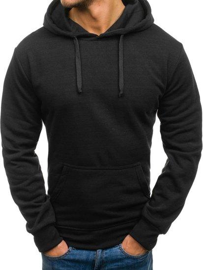 Bluza męska z kapturem czarna Denley 6003