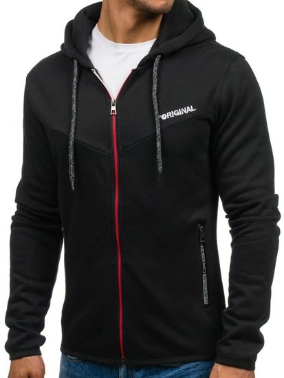 Bluza męska z kapturem czarna Denley J16