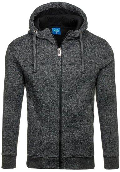 Bluza męska z kapturem czarna Denley TC13